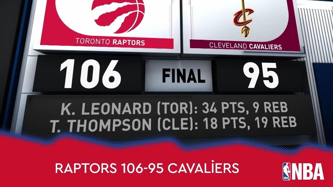 Toronto Raptors 106-95 Cleveland Cavaliers