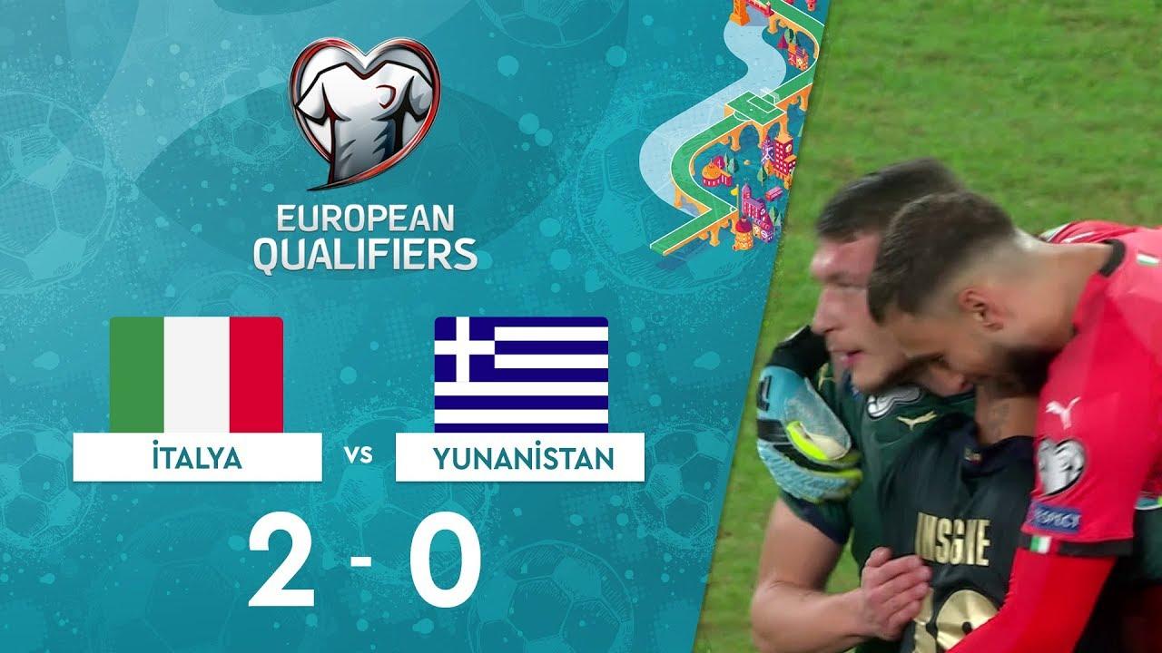 İtalya 2-0 Yunanistan | EURO 2020 Elemeleri Maç Özeti - J Grubu