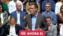 """Sánchez: """"No demos por hecho que la amenaza de las tres derechas no se materialice en toda España"""""""