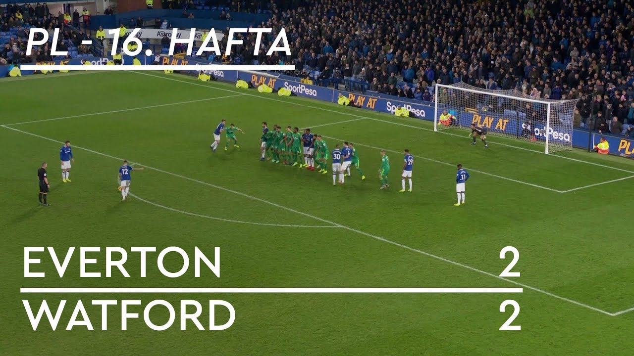 Everton - Watford (2-2) - Maç Özeti - Premier League 2018/19