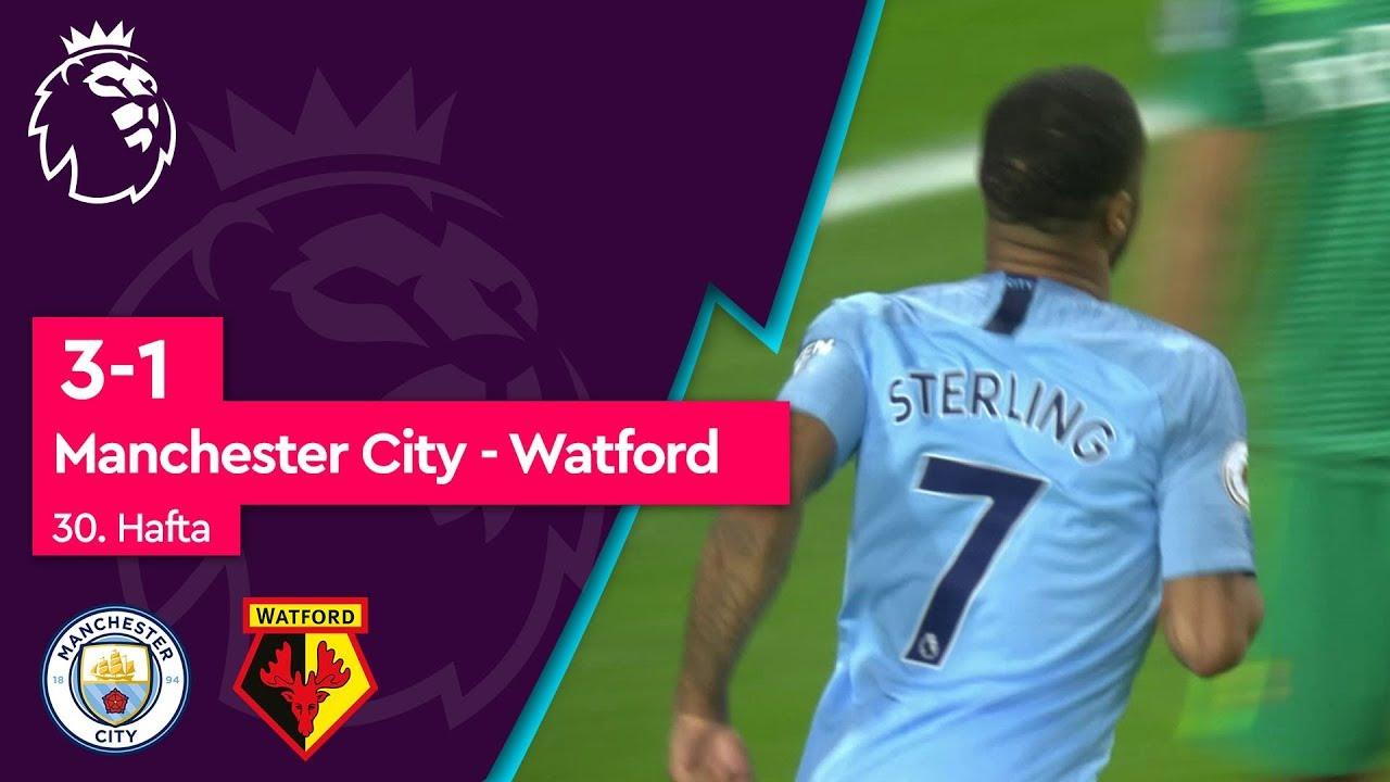 Manchester City - Watford (3-1) - Maç Özeti - Premier League 2018/19