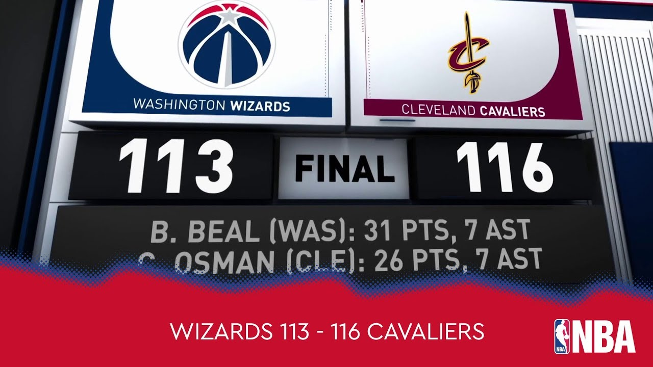 Washington Wizards 113 - 116 Cleveland Cavaliers