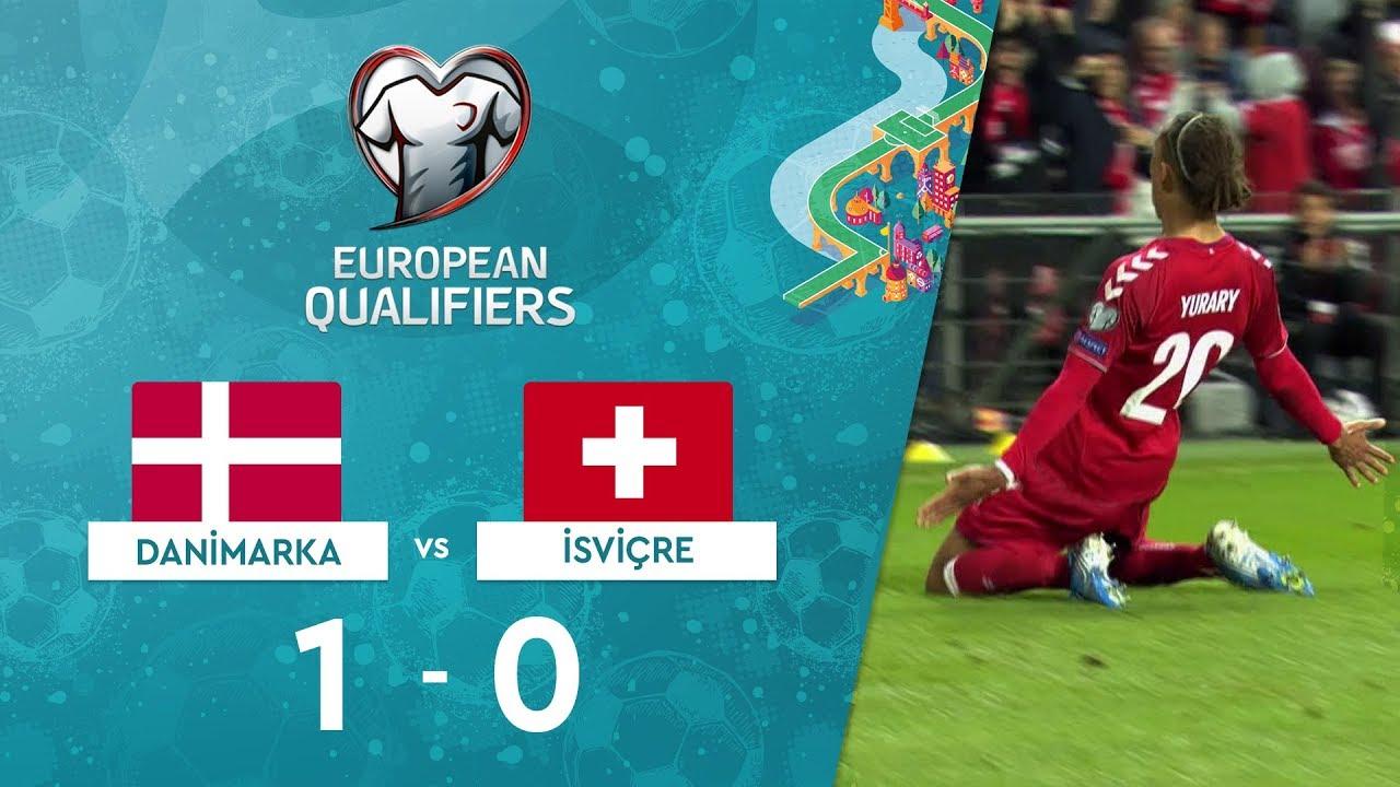 Danimarka 1-0 İsviçre | EURO 2020 Elemeleri Maç Özeti - D Grubu