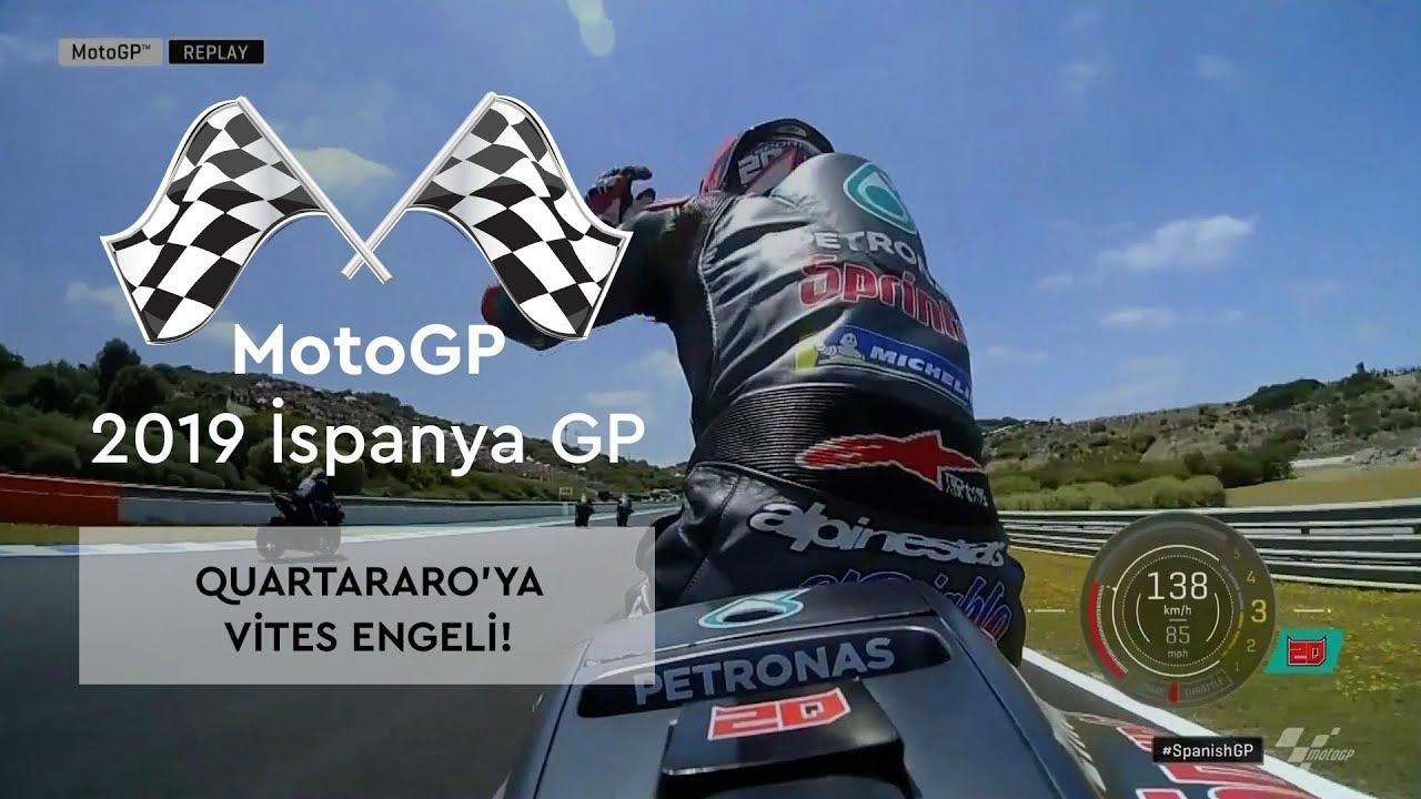 Quartararo'ya Vites Engeli! (MotoGP 2019 - İspanya Grand Prix)