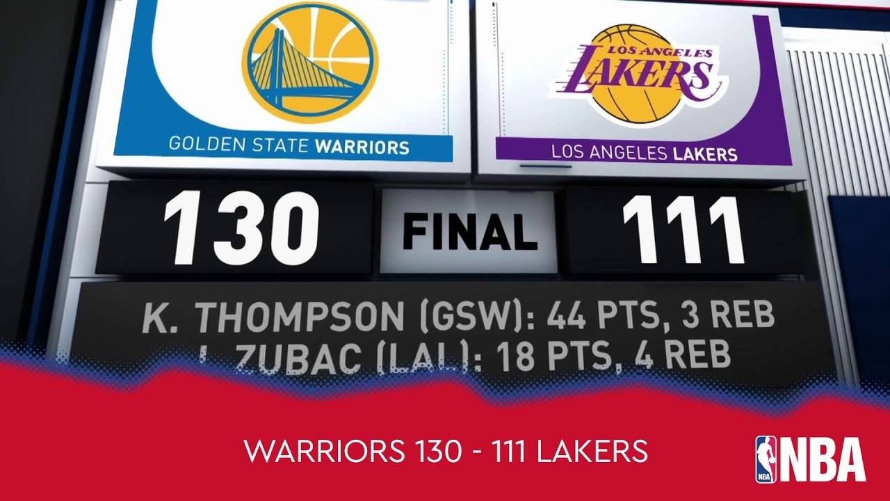 Golden State Warriors 130 - 111 Los Angeles Lakers