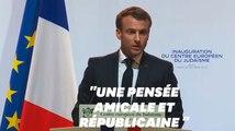 L'hommage de Macron après l'attaque de la mosquée de Bayonne