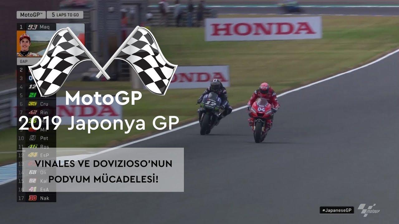 Vinales ve Dovizioso'nun Podyum Mücadelesi (MotoGP 2019 - Japonya Grand Prix)