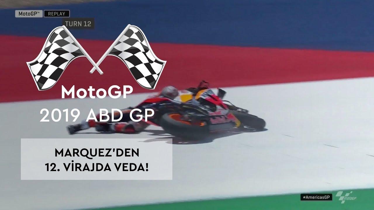 Marc Marquez'den 12. Virajda Veda! (MotoGP 2019 - ABD Grand Prix)