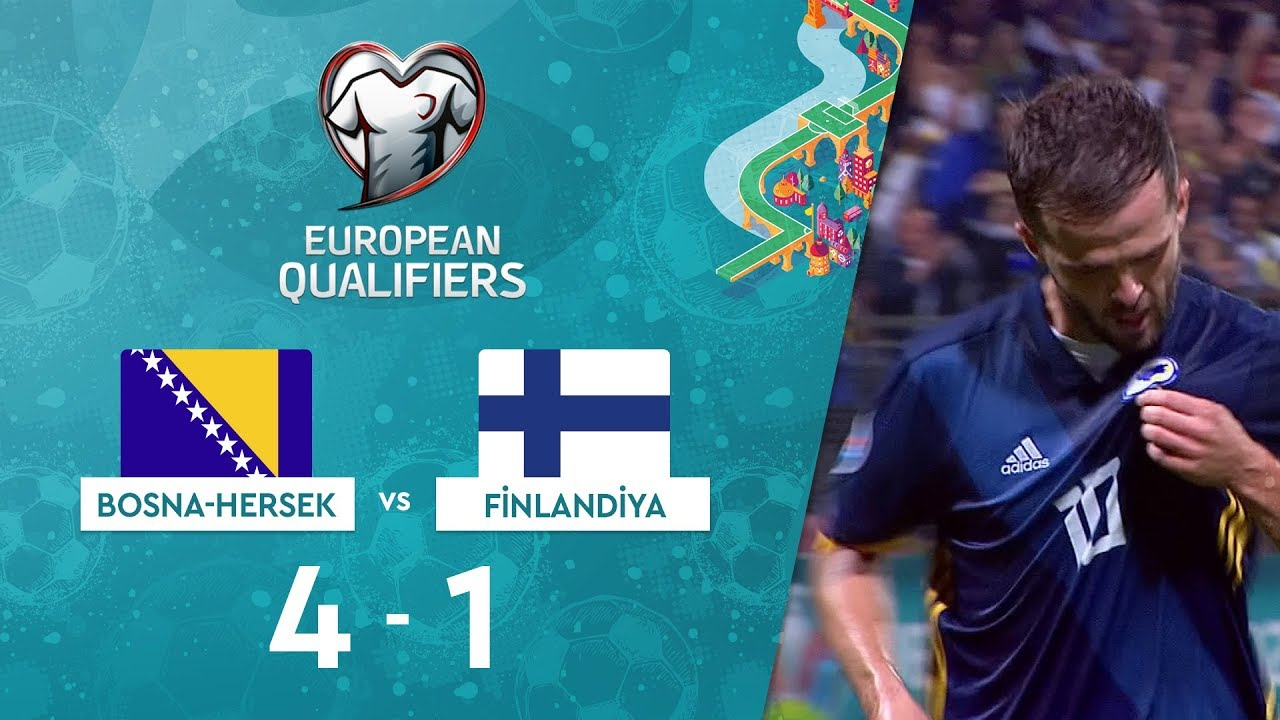 Bosna-Hersek 4-1 Finlandiya | EURO 2020 Elemeleri Maç Özeti - J Grubu