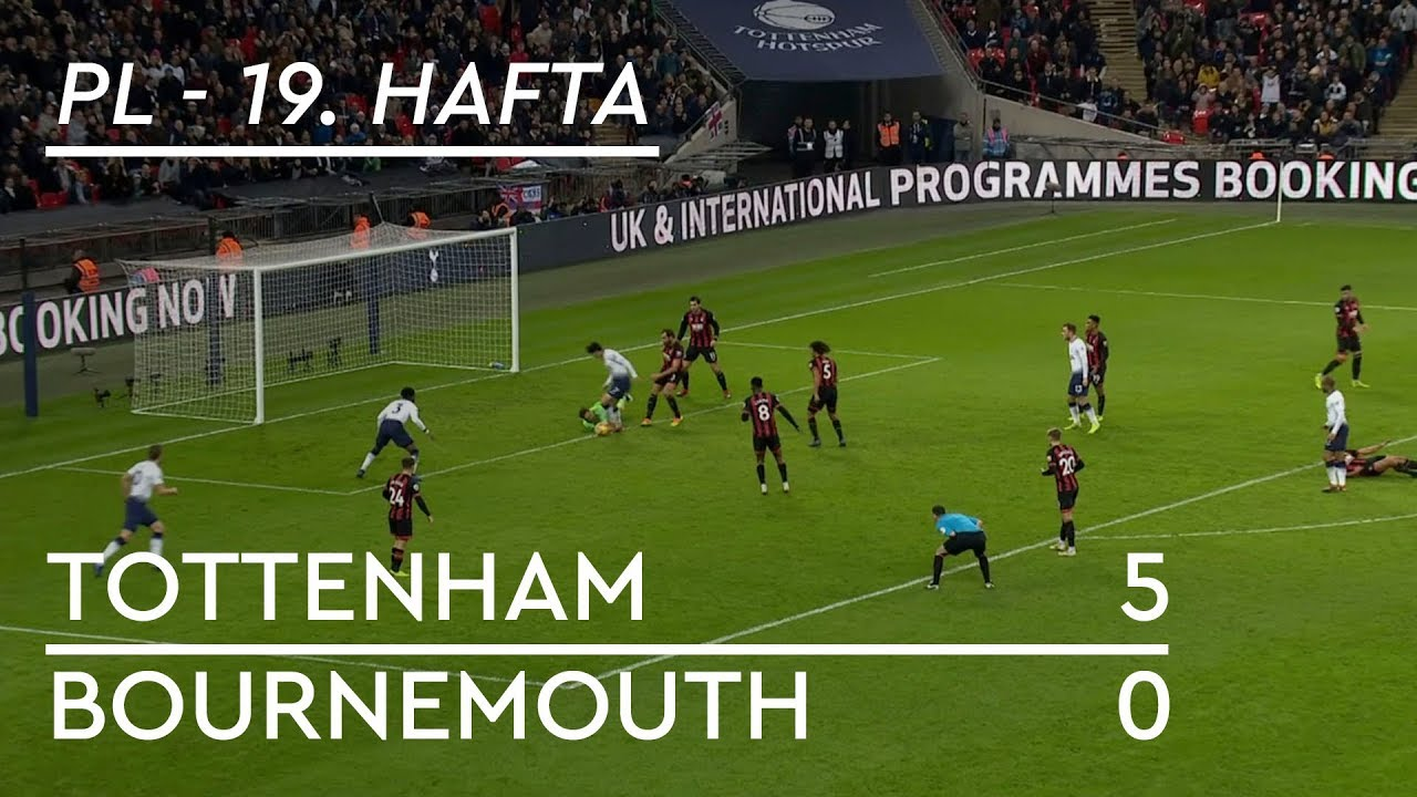 Tottenham - Bournemouth (5-0) - Maç Özeti - Premier League 2018/19
