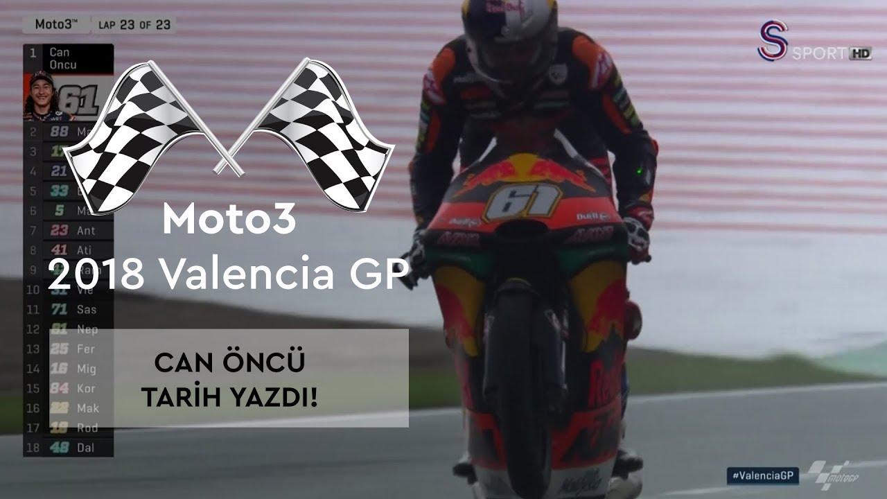 Can Öncü Tarih Yazdı! (Moto3 2018 - Valencia Grand Prix)