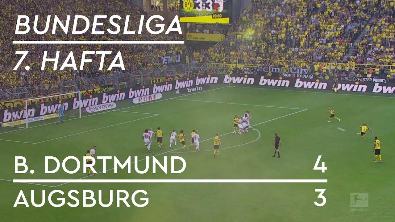 Borussia Dortmund - Augsburg (4-3) - Maç Özeti - Bundesliga 2018/19