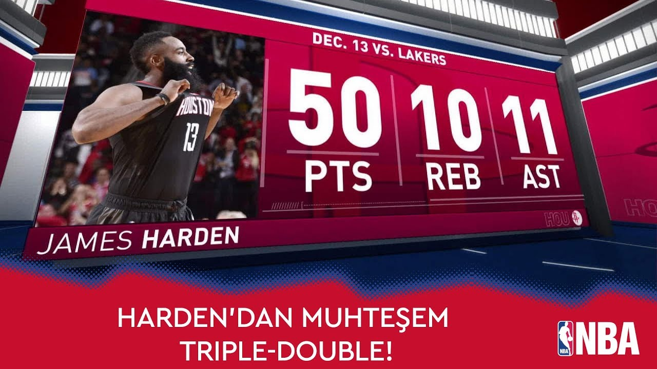 James Harden'dan Muhteşem Triple-Double!