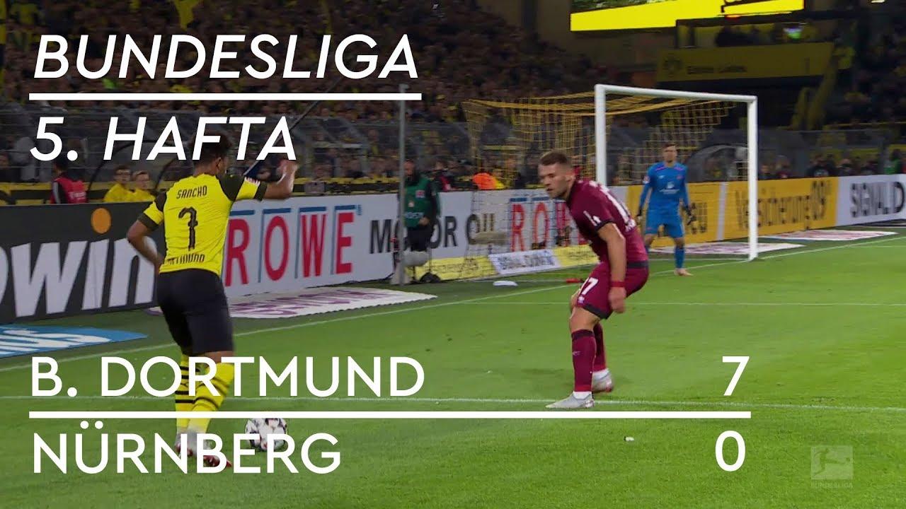 Borussia Dortmund - Nürnberg (7-0) - Maç Özeti - Bundesliga 2018/19