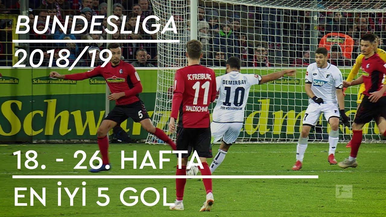 En İyi 5 Gol | Bundesliga 2018/19 (2. Yarı - İlk 9 Hafta)