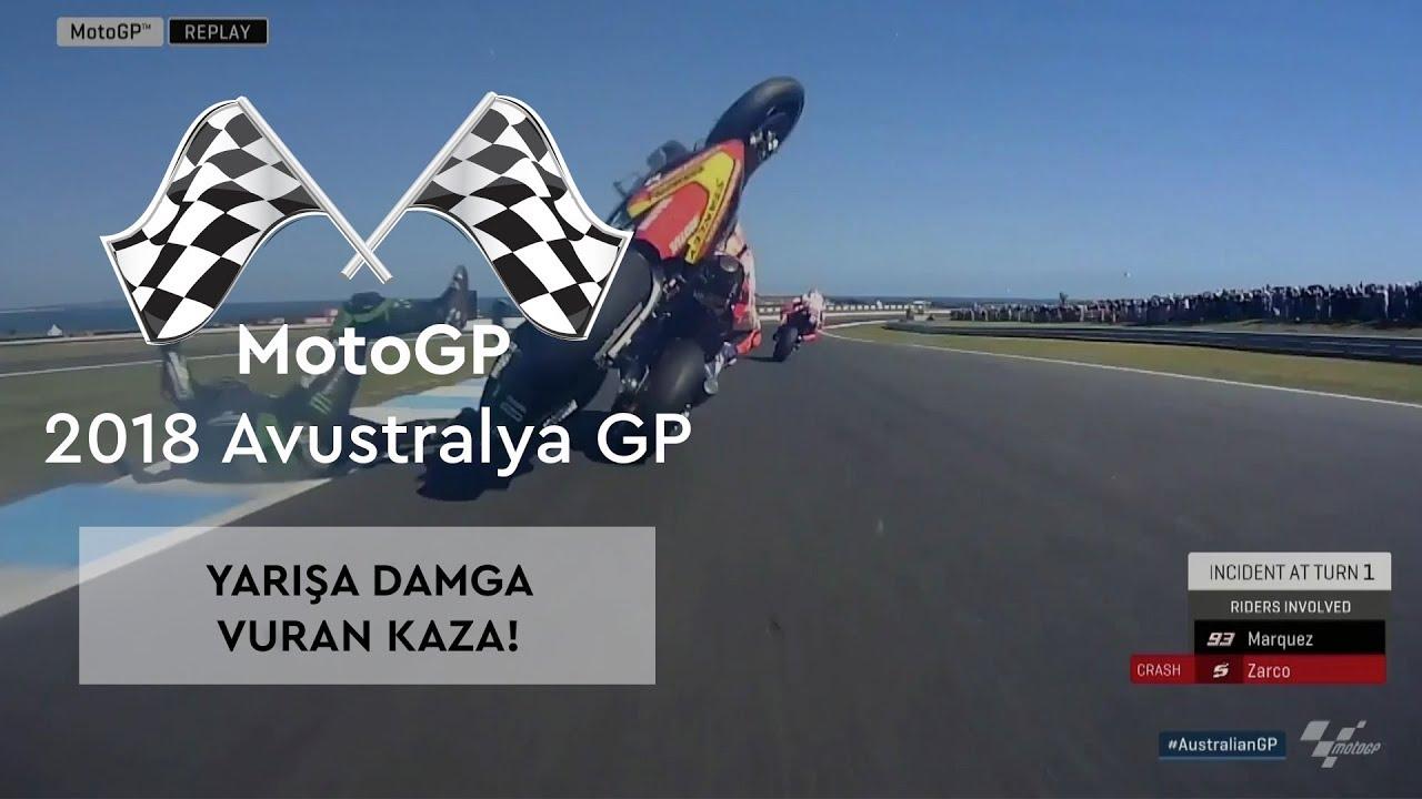 Yarışa Damga Vuran Zarco-Marquez Kazası! (MotoGP 2018 - Avustralya Grand Prix)
