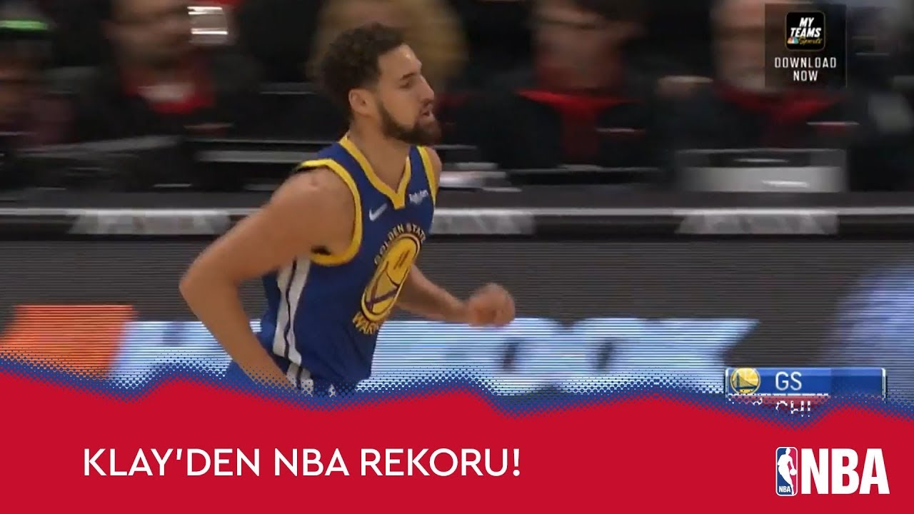 Klay Thompson 14 Üçlük ile NBA Tarihine Geçti!