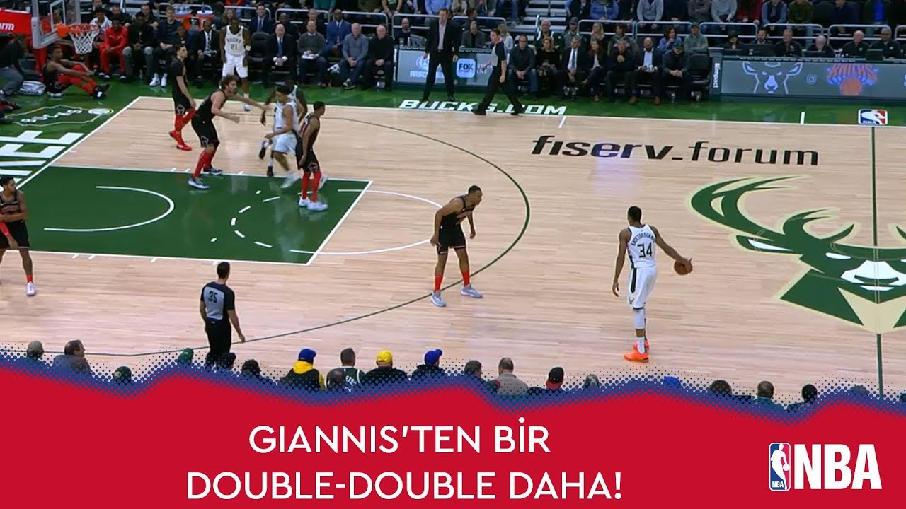 Giannis Antetokounmpo'dan Bir Double-Double Daha!