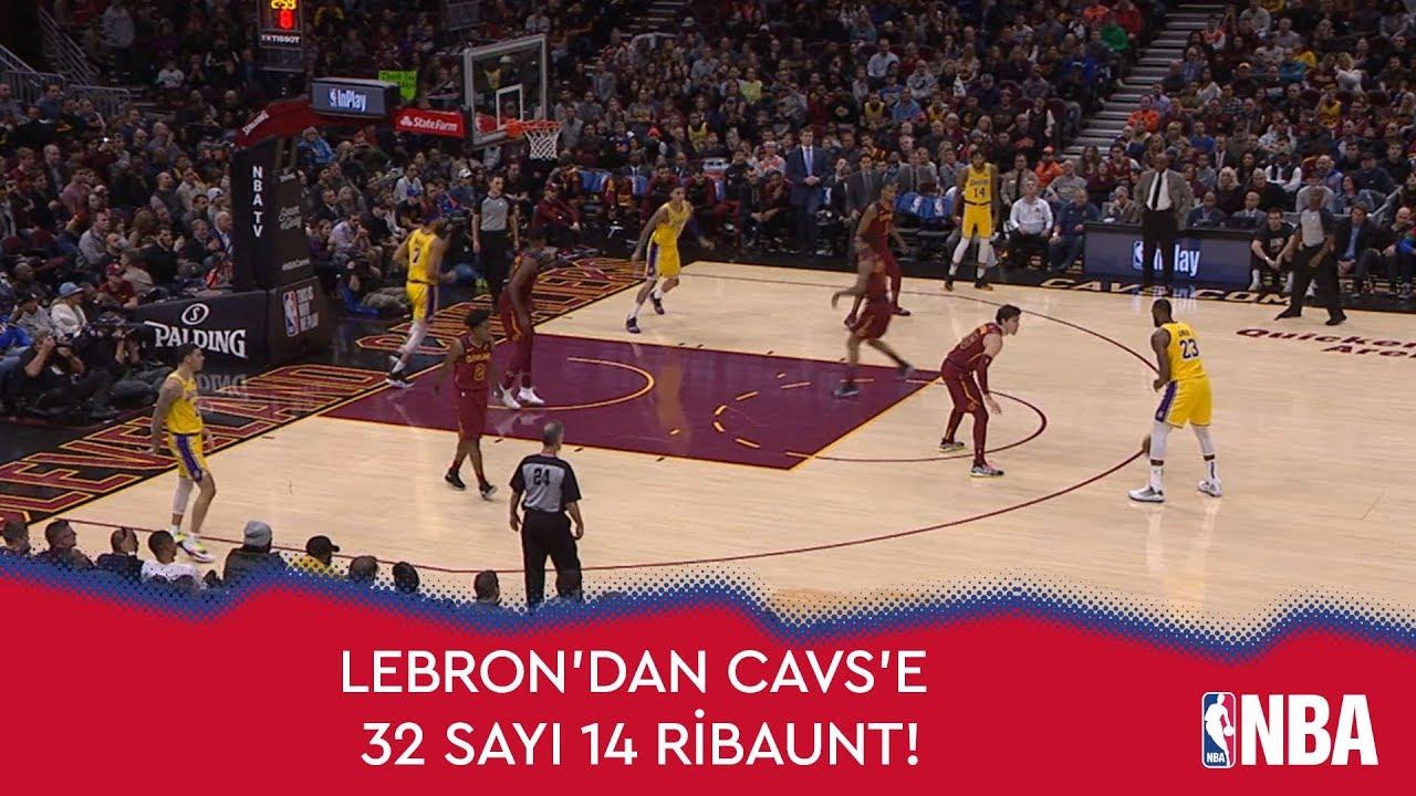 LeBron'dan Cavs'e 32 Sayı 14 Ribaunt!