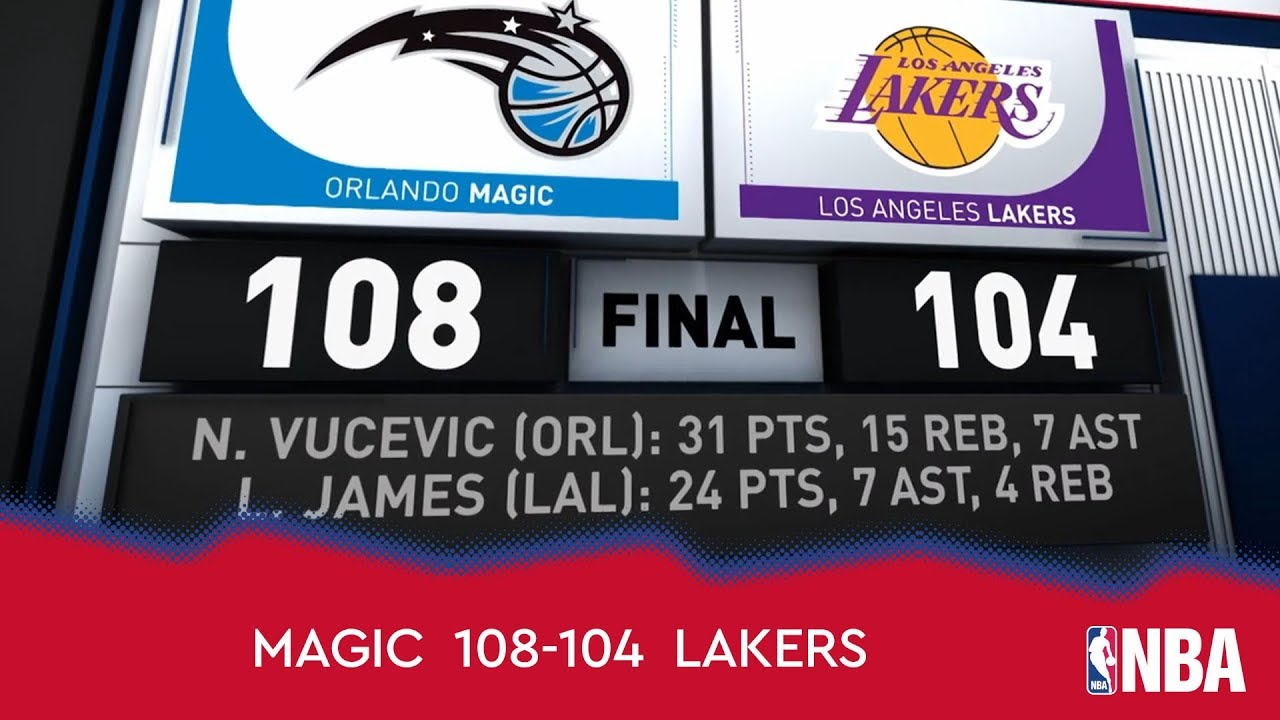 Orlando Magic 108-104 Los Angeles Lakers