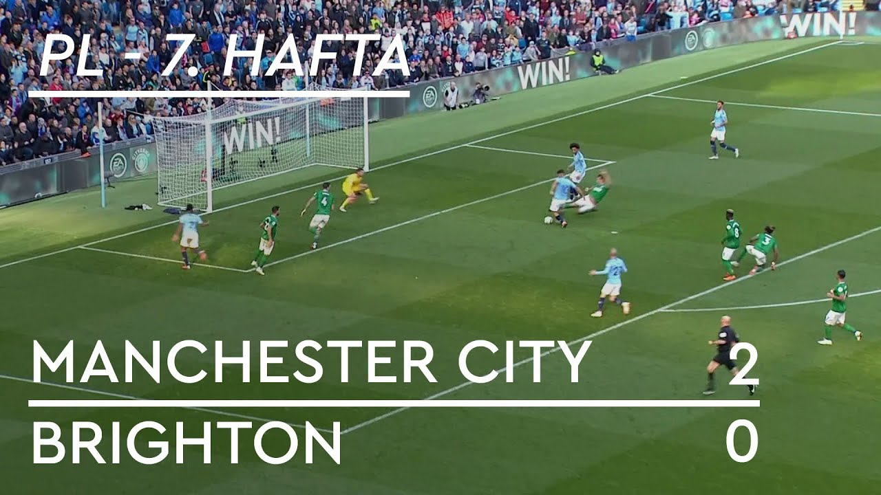 Manchester City - Brighton (2-0) - Maç Özeti - Premier League 2018/19