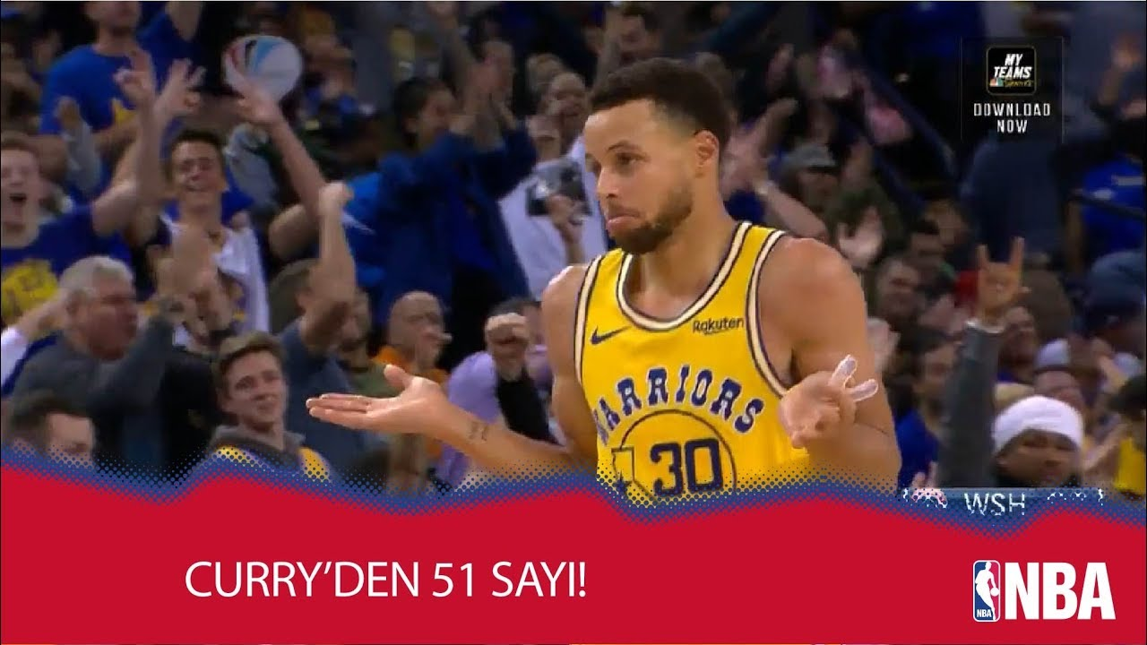 Curry'den 3 Çeyrekte 51 Sayı!
