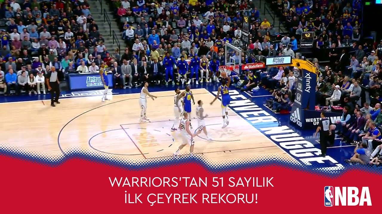 Warriors'tan 51 Sayılık İlk Çeyrek Rekoru!
