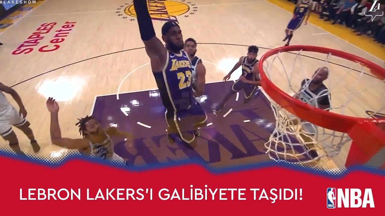 LeBron Lakers'ı Galibiyete Taşıdı!