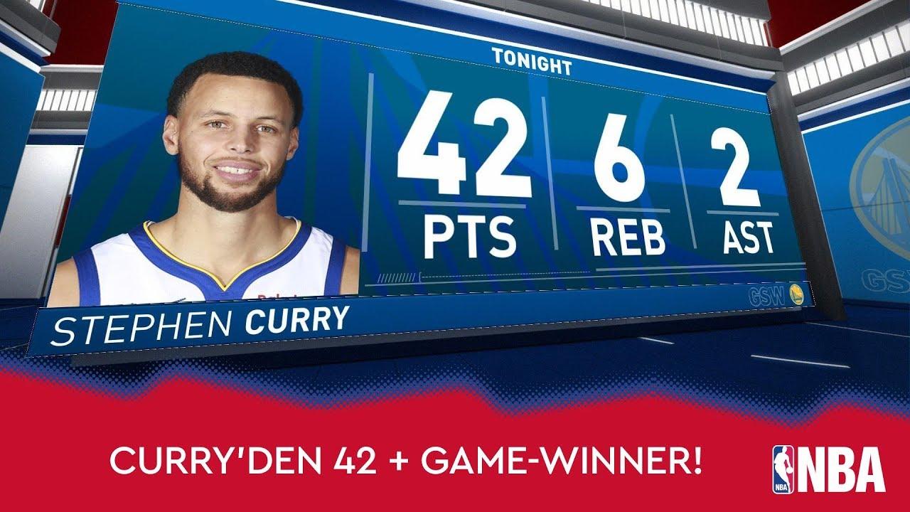 Stephen Curry'den 42 Sayı ve Maç Kazandıran Basket!