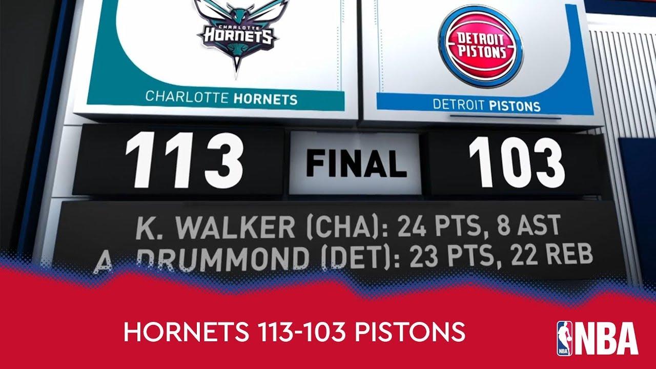 Charlotte Hornets 113-103 Detroit Pistons