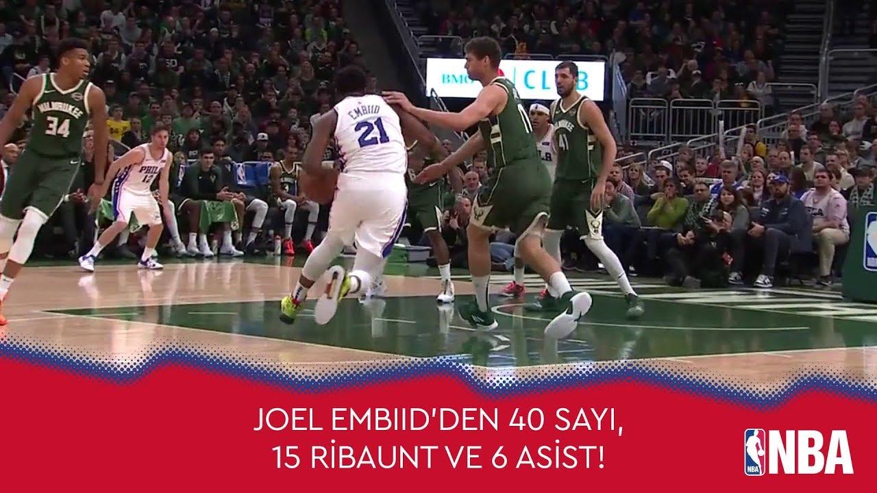 Joel Embiid'den 40 Sayı, 15 Ribaunt ve 6 Asist!