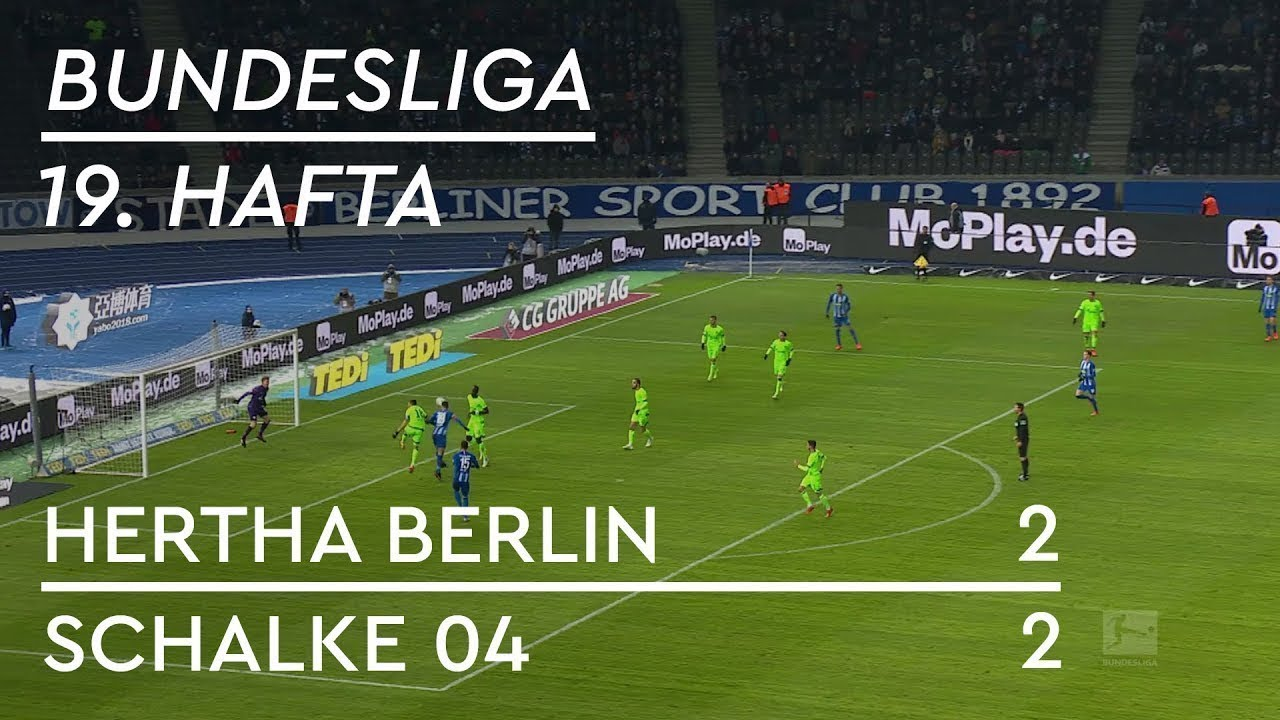 Hertha Berlin - Schalke 04 (2-2) - Maç Özeti - Bundesliga 2018/19 - Türkçe Anlatım