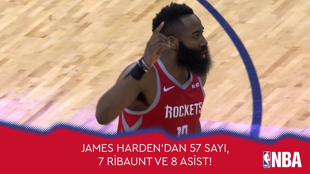 James Harden'dan 57 Sayı, 7 Ribaunt ve 8 Asist!