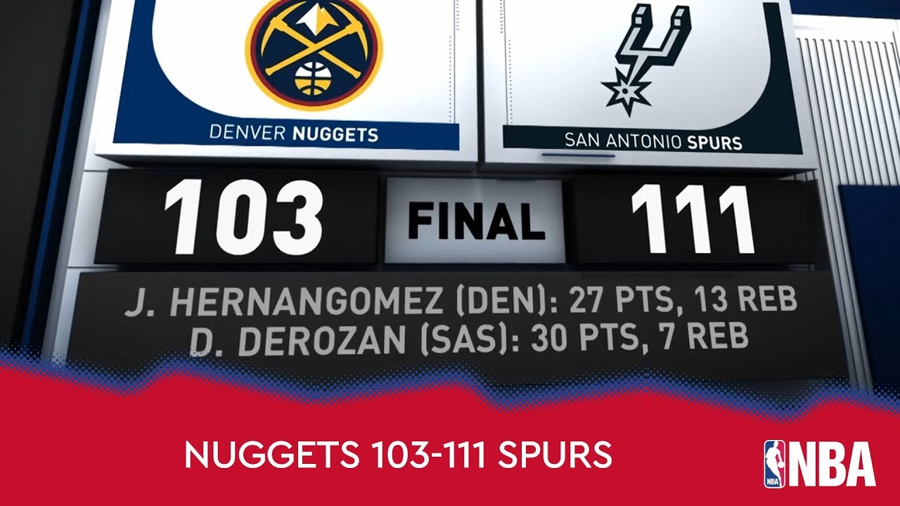 Denver Nuggets 103-111 San Antonio Spurs