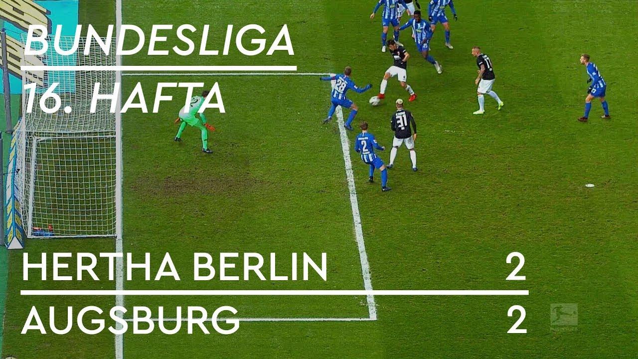 Hertha Berlin - Augsburg (2-2) - Maç Özeti - Bundesliga 2018/19 - Türkçe Anlatım