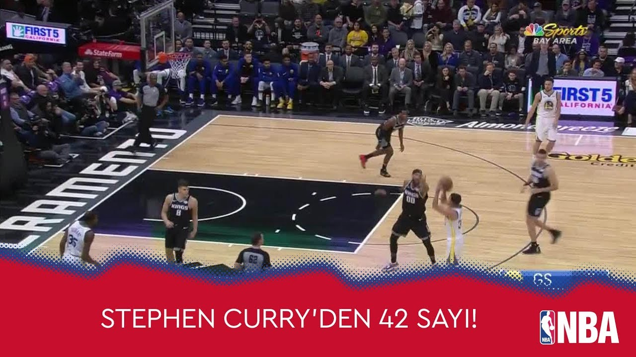 Stephen Curry'den Kings'e 42 Sayı!