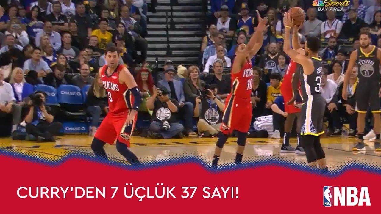 Curry'den 7 Üçlük 37 Sayı!