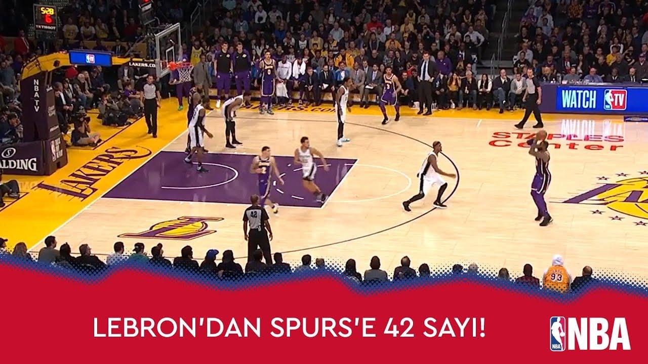 LeBron'dan Spurs'e 42 Sayı!