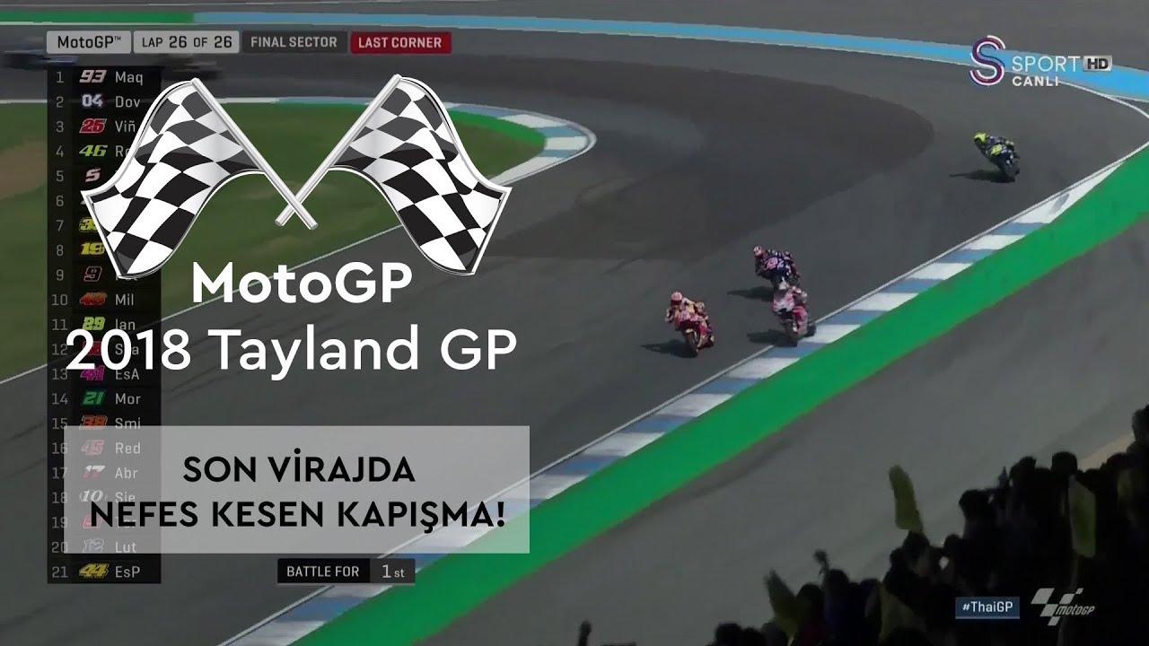 Yarışın Galibini Son Viraj Belirledi! (2018 MotoGP - Tayland Grand Prix)