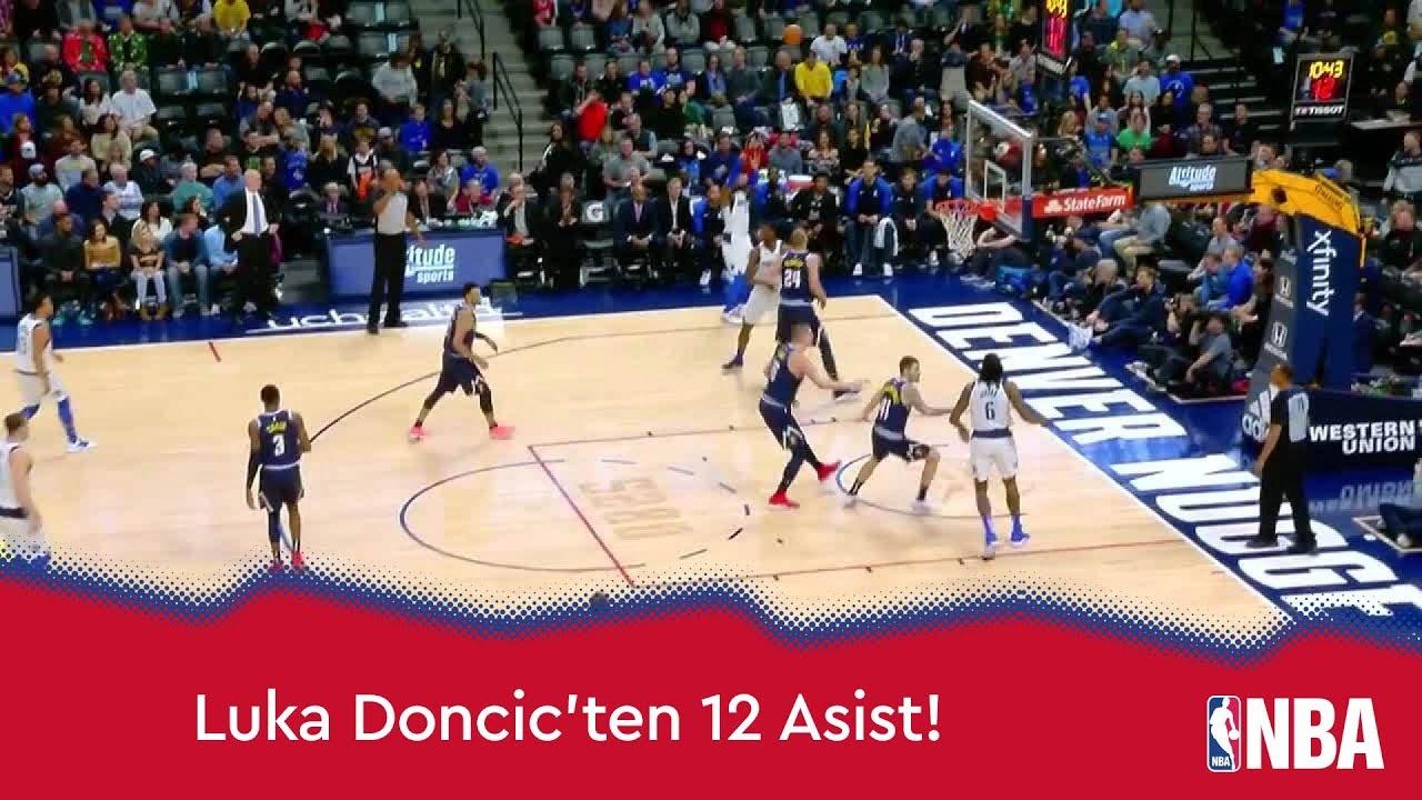 Luka Doncic'ten 12 Asist!