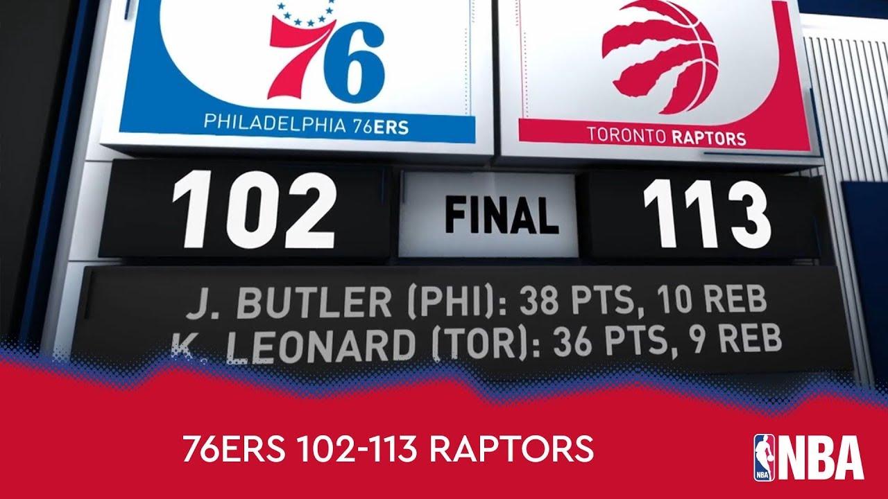 Philadelphia 76ers 102-113 Toronto Raptors