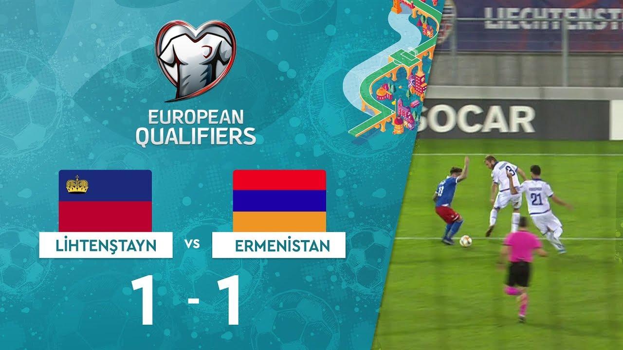 Lihtenştayn 1-1 Ermenistan | EURO 2020 Elemeleri Maç Özeti - J Grubu
