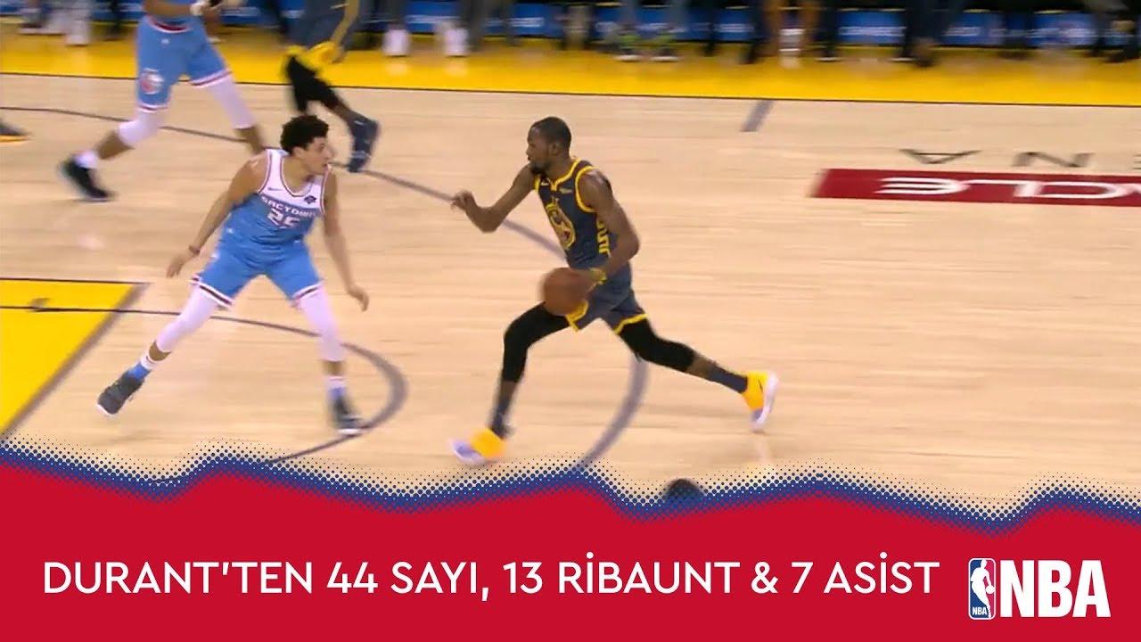 Kevin Durant'ten Sacramento Kings Karşısında 44 Sayı, 13 Ribaunt ve 7 Asist!