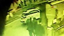 Genç kadının yaralandığı kaza kamerada