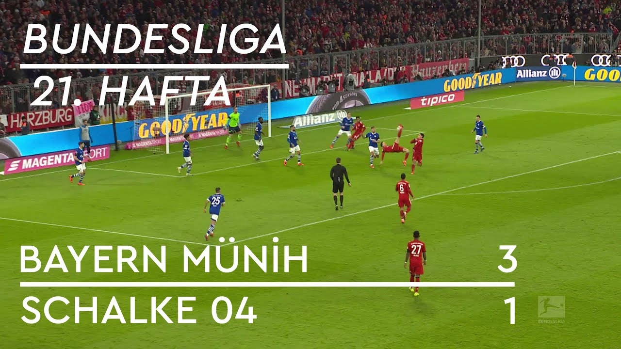 Bayern Münih - Schalke 04 (3-1) - Maç Özeti - Bundesliga 2018/19 - Türkçe Anlatım