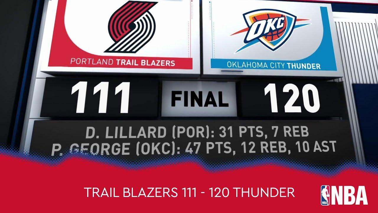 Portland Trail Blazers 111 - 120 Oklahoma City Thunder