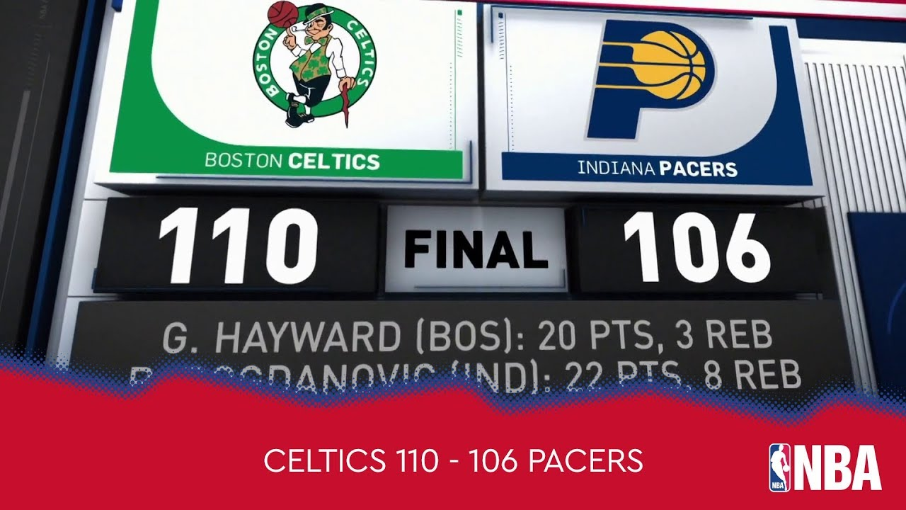 Boston Celtics 110 - 106 Indiana Pacers