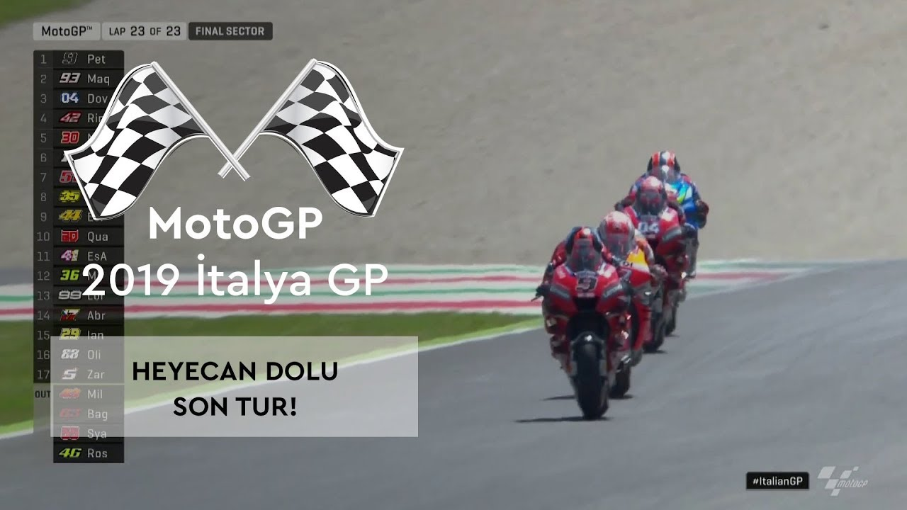 Heyecan Dolu Son Tur! (MotoGP 2019 - İtalya Grand Prix)