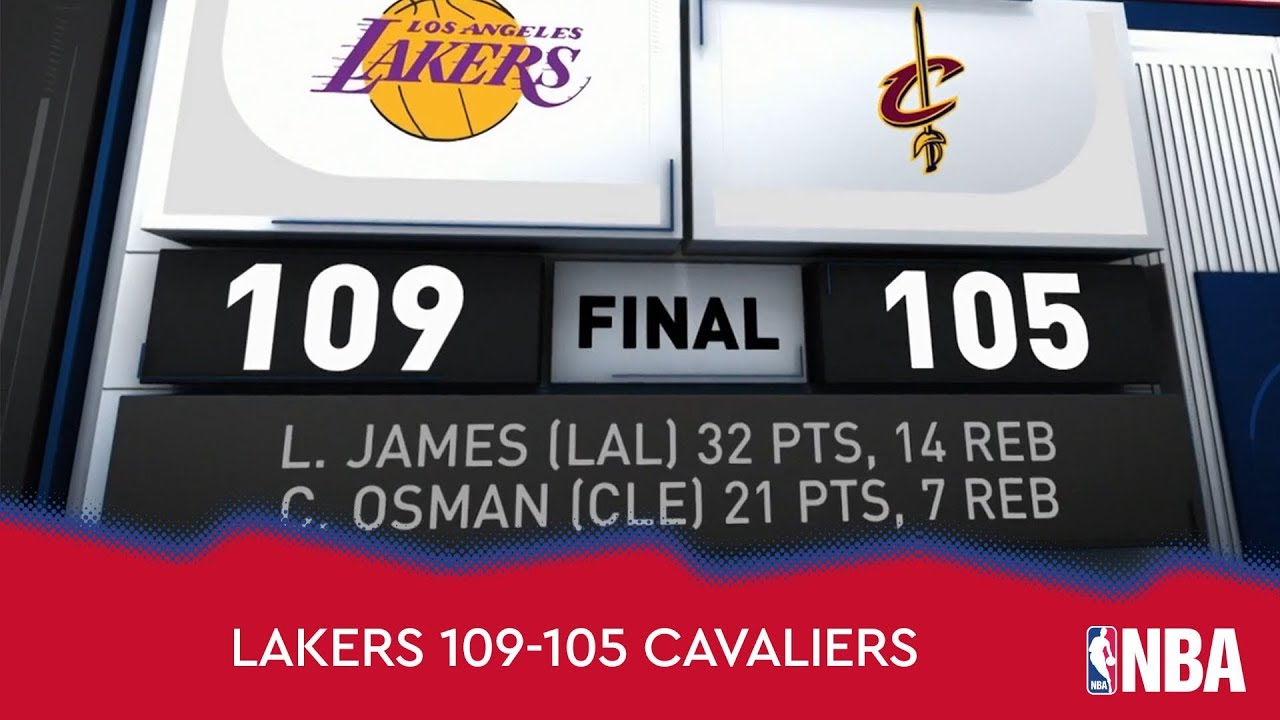 Los Angeles Lakers 109-105 Cleveland Cavaliers