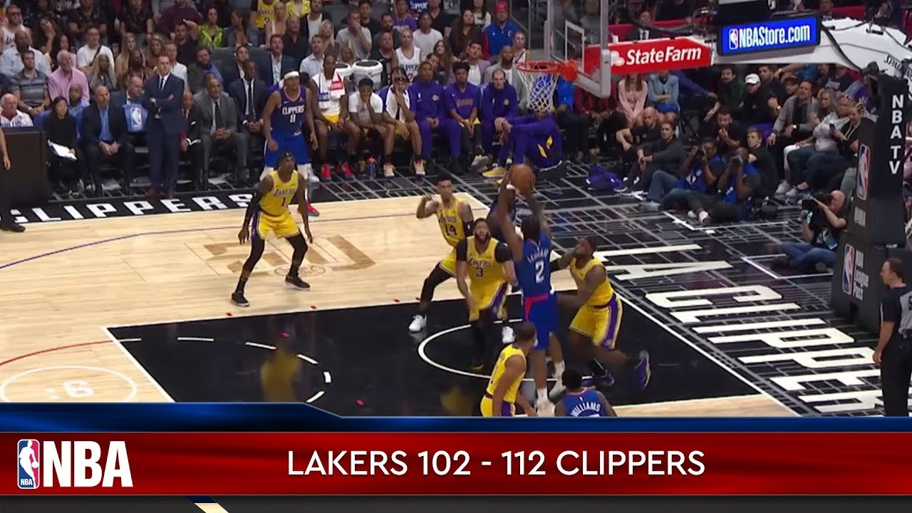 Los Angeles Lakers 102 - 112 Los Angeles Clippers